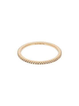 Yellow Gold Eternity Pavé Diamond Ring