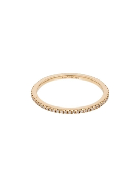 18K Yellow Gold Eternity Pavé Diamond Ring