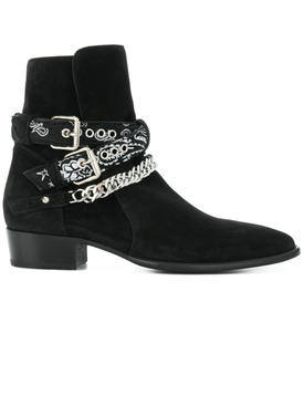 Bandana buckle boot black