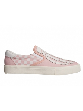 Pink Checkered Skeleton Toe Sneakers