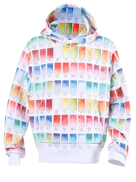 Watercolor swatches hoodie
