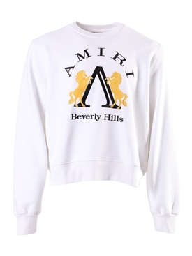Beverly Hills logo sweatshirt WHITE