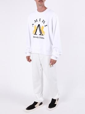 Beverly Hills logo sweatshirt WHITE