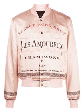 Les Amoureux champagne bomber jacket