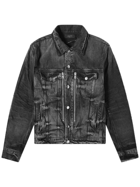 Aged Black Bandana MX2 trucker denim jacket