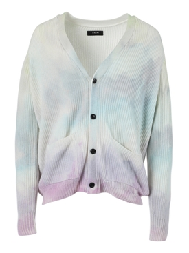 Watercolor print cardigan