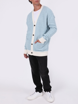 Light blue boucle cardigan