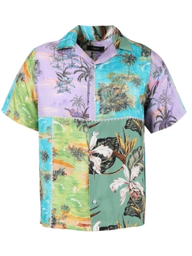 Hawaiian patchwork short-sleeve shirt