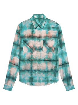 Watercolor plaid shirt BLUE