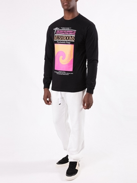 Side logo sweatpants WHITE