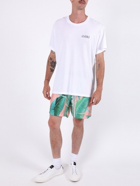 Banana Leaves Print Shorts PEACH