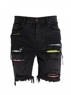 Watercolor Patch Thrasher Shorts AGED BLACK