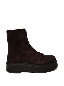 Zipped Boot Dark Brown