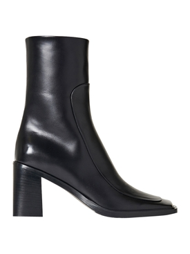PATCH ANKLE BOOT, BLACK