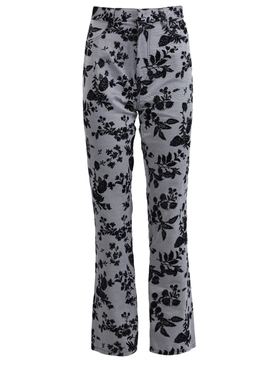 Floral Denim Pants, Blue