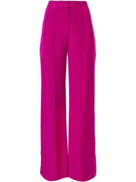Silk Crepe Wide Leg Pants