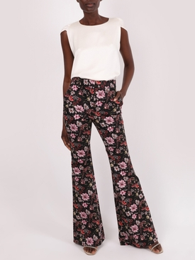 Floral Printed High Waist Flare Pant