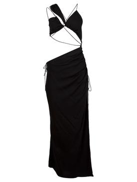 INTERWEAVE WIRE BANDEAU DRESS BLACK
