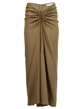 RUCHED TIE DETAIL SKIRT ASH