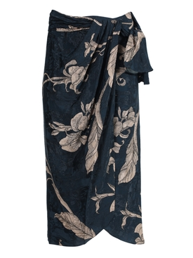 Tide of Love Wrap Skirt, Blue