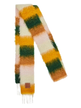 Striped Multicolor Scarf Orange/Yellow
