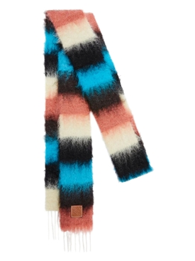Striped Multicolor Scarf Rust/Dark Brown
