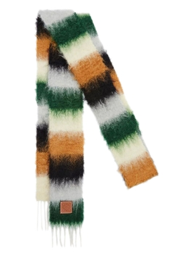 Striped Multicolor Scarf Dark Green/Grey