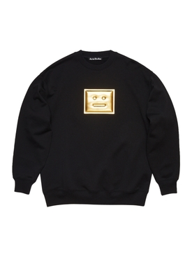Metallic logo graphic jumper BLACK