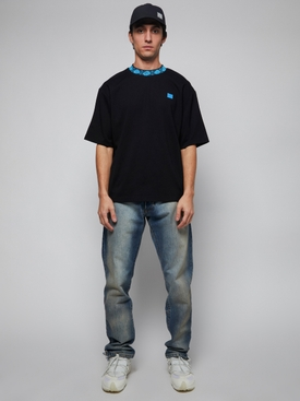 Collar Logo T-shirt BLACK/BLUE
