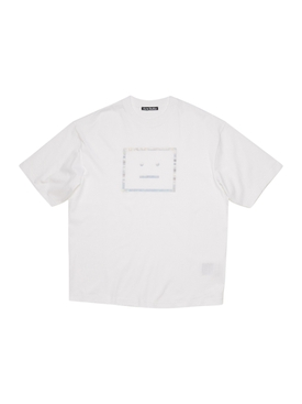 Metallic Face Logo T-shirt OPTIC WHITE