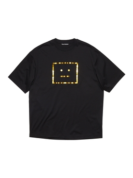 Metallic Face Logo T-shirt BLACK