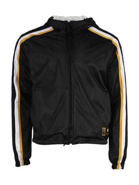 Perforated zip-up track jacket