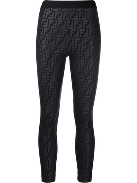 Fendirama embossed leggings Black