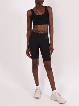 Logo biker shorts BLACK