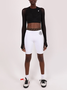 Logo biker shorts WHITE