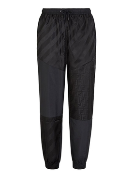 Tonal Iconic Logo Jogger Pants Black