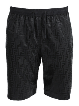 Fendi - Black Tonal Logo Shorts - Men