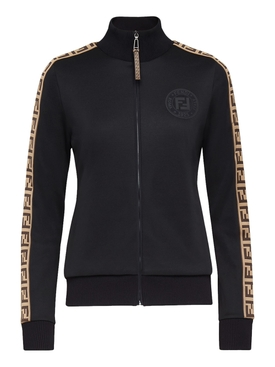 FF LOGO SLEEVE PANEL TRACK JACKET BLACK