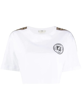Cropped Fendirama t-shirt WHITE
