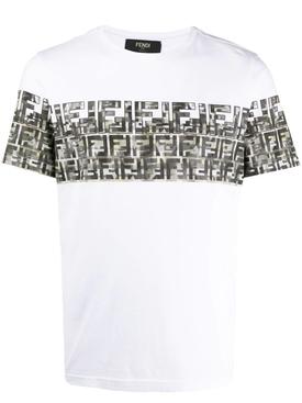 CamouFFlage Logo print T-shirt WHITE/BIANCO