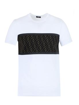 FF logo paneled t-shirt WHITE