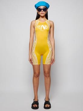 X Sarah Coleman Vertigo Logo Jumpsuit Yellow