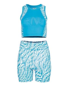 X Sarah Coleman Fitness Set Blue