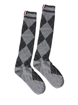 Classic Argyle Mid-Calf Socks