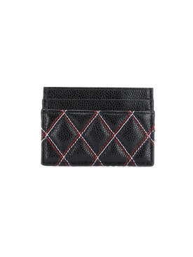 Double-sided quilted-effect cardholder