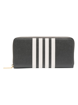4-bar zipped continental wallet, dark grey