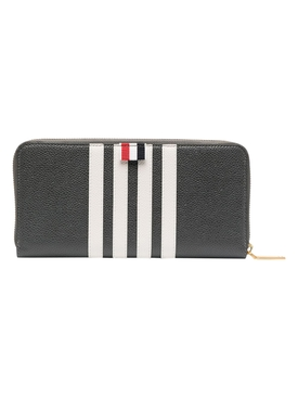 4-bar zipped continental wallet, dark grey