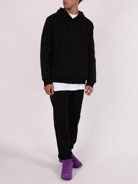 Black FF tape embossed logo pants