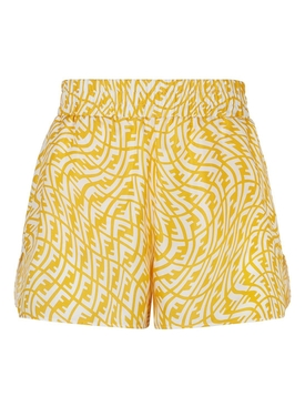 X Sarah Coleman Silk Bermuda Shorts YELLOW