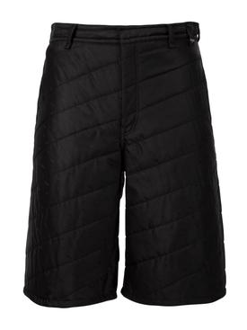 Silk Padded Bermuda Shorts Black